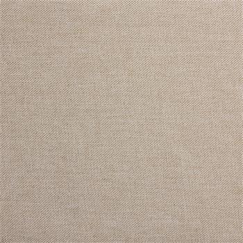 Lit double MATHIEU, 140 x 190 cm, capitonné avec sommier, revêtement en tissu beige