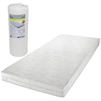 Matelas blanc vendu enroulé 90 x 200 cm