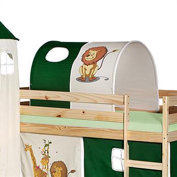 Tunnel pour lit surélevé, motif Savane