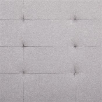Lit simple MARIA, 120 x 200 cm, capitonné avec sommier, revêtement en tissu gris