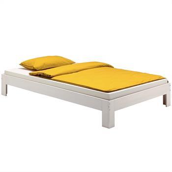 Lit futon THOMAS, en pin massif, 90 x 190 cm, lasuré blanc