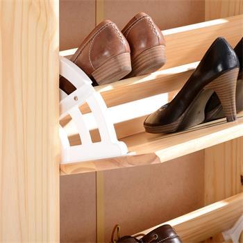 Meuble à chaussures en pin RONDO, vernis naturel