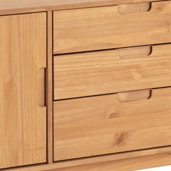 Buffet TIVOLI, 3 tiroirs et 2 portes, finition bois teinté