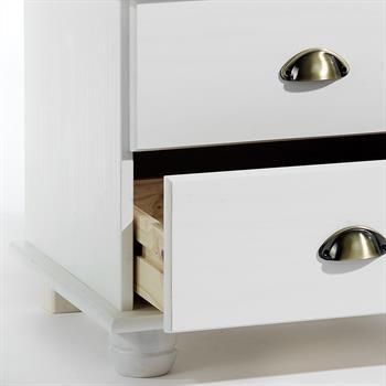 Table de chevet en pin COLMAR, lasuré blanc