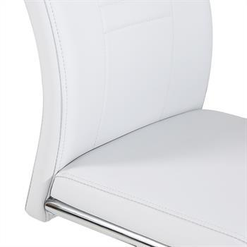 Lot de 4 chaises LOANO, en synthétique gris
