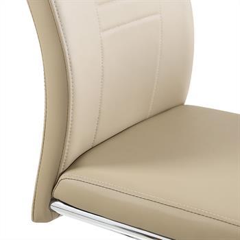 Lot de 4 chaises LOANO, revêtement synthétique brun