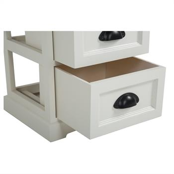 Table de chevet LANDHAUS, 2 tiroirs, blanc