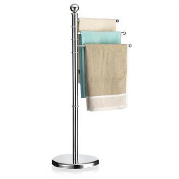 Porte-serviettes PETRA avec 3 tringles pivotantes, en métal
