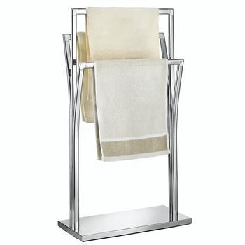 Porte-serviettes MALMO, en métal chromé