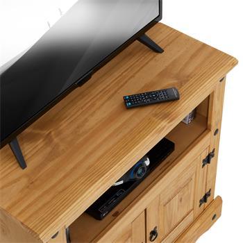 Meuble TV en pin SALSA style mexicain, 2 portes