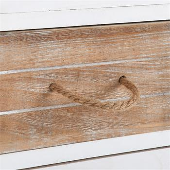 Chiffonnier SALVA avec 6 tiroirs, en bois blanc brun et gris