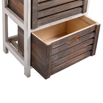 Table de chevet FLEUR, 2 petits et 2 grands tiroirs, blanc