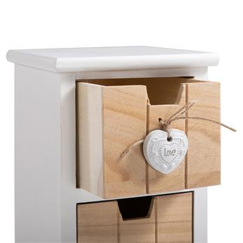 Chiffonnier PIEMONT, 3 tiroirs et 1 panier, blanc