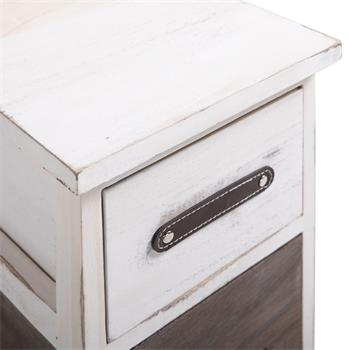 Table de chevet PADUA, 3 tiroirs, blanc