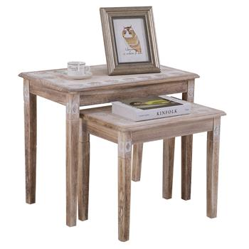 Lot de 2 tables gigognes RILEY