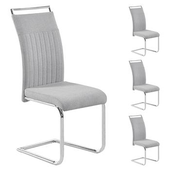 Lot de 4 chaises ERICA, en tissu