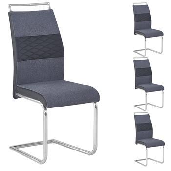 Lot de 4 chaises ERZA, en tissu