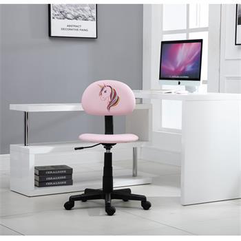 Chaise de bureau pour enfant UNICORN, rose