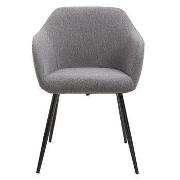 Chaise ENEGO, en tissu gris foncé