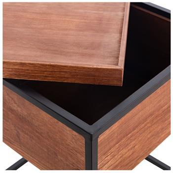 Table basse carré avec rangement RAMIREZ