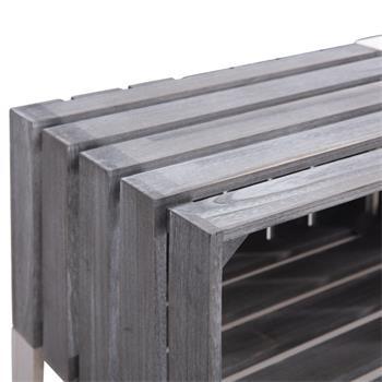 Etagère KALENA, rangement 6 cagettes en bois