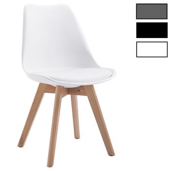 Lot de 4 chaises scandinaves ABBY, en synthétique