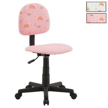 Chaise de bureau pour enfant ALPACA, revêtement synthétique avec motif lama