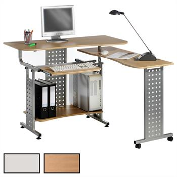 Bureau ordinateur ALPHA, 2 coloris disponibles
