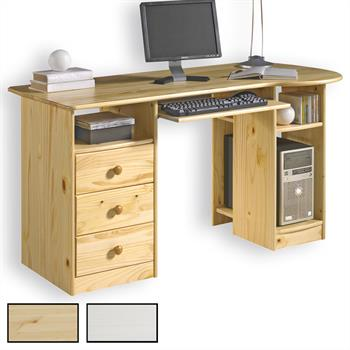 Bureau en pin BOB, 2 coloris disponibles