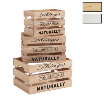 Lot de 3 cagettes en bois CHENOA