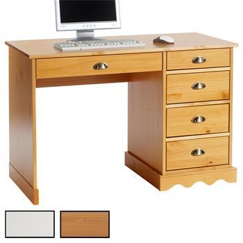Bureau en pin COLETTE, 2 coloris disponibles