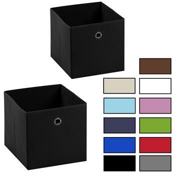 Lot de 2 tiroirs en tissu ELA, 4 coloris disponibles
