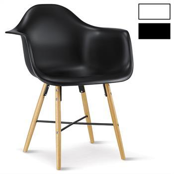 Lot de 4 chaises EMILIO, en plastique