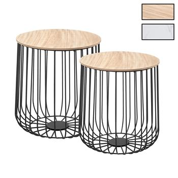 Lot de 2 tables d'appoint ERRANO