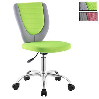 Chaise de bureau enfant FUTURE, en maille bicolore