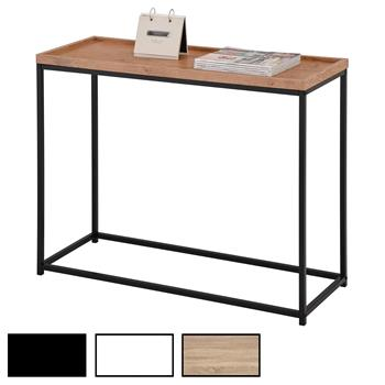 Table console ICONIC, cadre en métal laqué noir et plateau en MDF