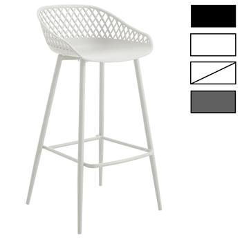 Lot de 2 tabourets de bar IREK, en plastique