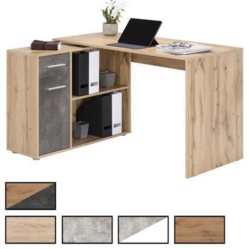 Bureau d'angle ISOTTA avec meuble de rangement