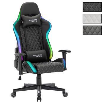 Chaise de bureau gamer LEGEND, revêtement synthétique avec LED
