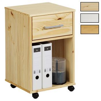 Caisson de bureau sur roulettes LOGO, 1 tiroir, 3 coloris disponibles