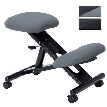 Tabouret ergonomique MALO, structure en bois noir et tissu