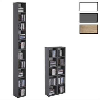 Etagère modulable MUSIQUE pour CD et DVD, 3 coloris disponibles