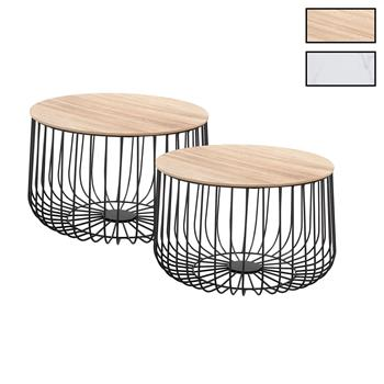 Lot de 2 tables d'appoint PADOVA