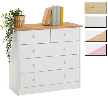 Commode en pin RONDO, 2+3 tiroirs