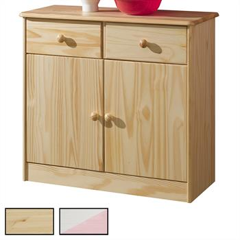 Buffet en pin RONDO, 2 coloris disponibles