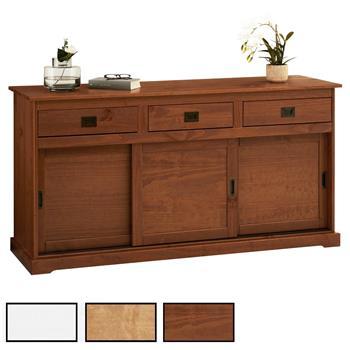 Buffet en pin SAVONA, 3 portes + 3 tiroirs, 3 coloris disponibles