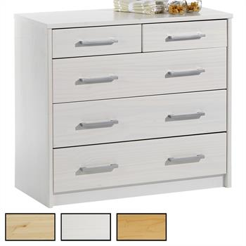 Commode en pin TESSA, 2+3 tiroirs, 3 coloris disponibles