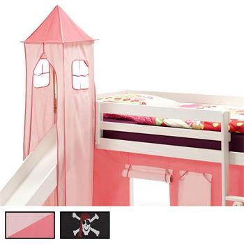 Donjon MAX pour lit surélevé avec toboggan, 4 coloris disponibles