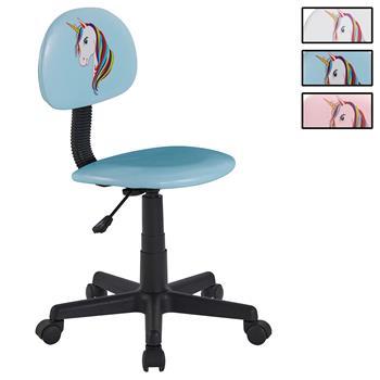 Chaise de bureau pour enfant UNICORN, revêtement synthétique avec motif licorne