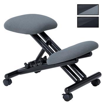 Tabouret ergonomique VICHY, structure en bois noir et tissu